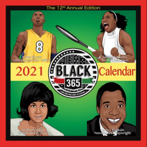 Black 365 2021 Calendar The Key Bookstore