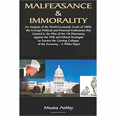 Malfeasance & Immorality: An Analysis of the World Economic Crash of 2008, the Corrupt Political and Financial Institutions that Caused it, the Plan ... the Coming Collapse of the Economy The Key Bookstore