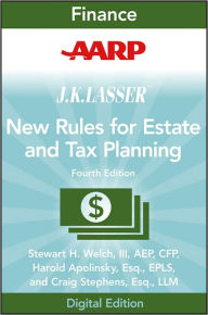 AARP JK Lasser's New Rules for Estate and Tax Planning The Key Bookstore